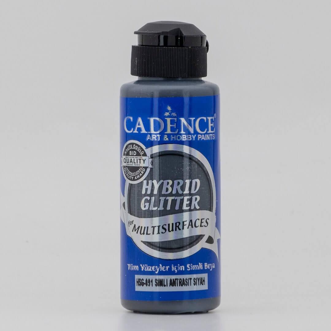 Antrasit Siyah Cadence Multisurface Gümüş Simli Akrilik Boya HSG091 - 120 ML