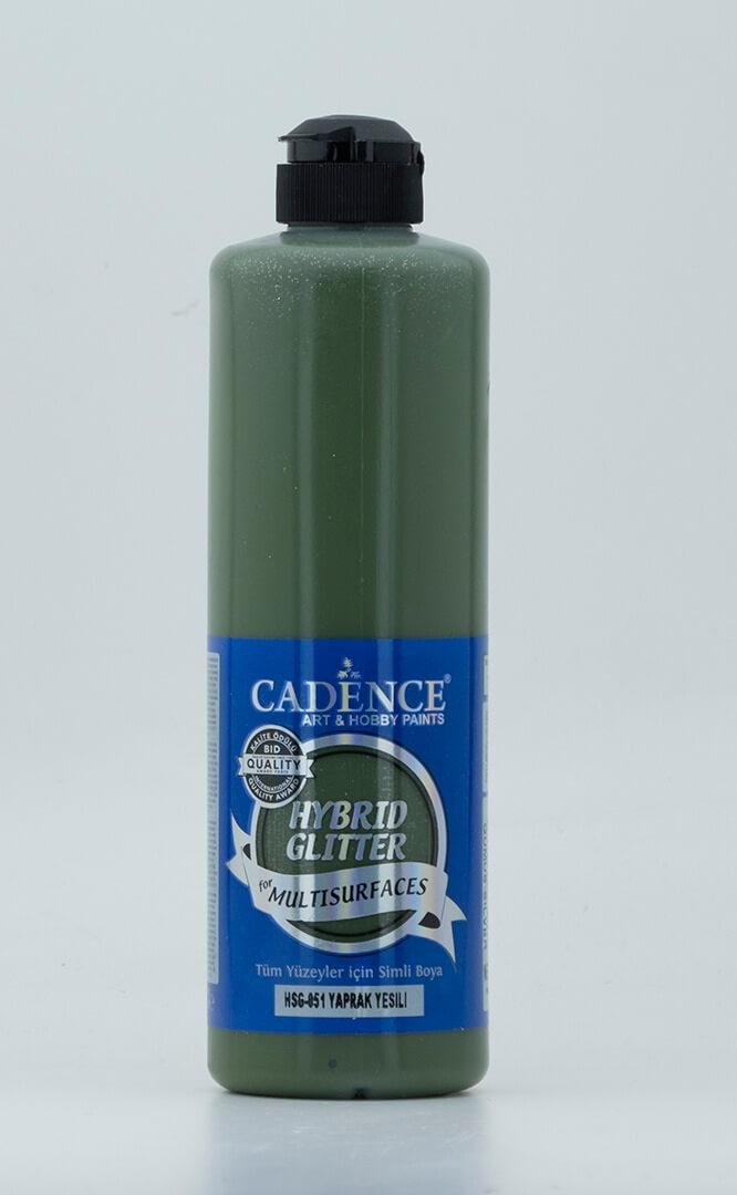 Yaprak Yeşili Cadence Multisurface Simli Akrilik Boya HSG051 - 500 ML