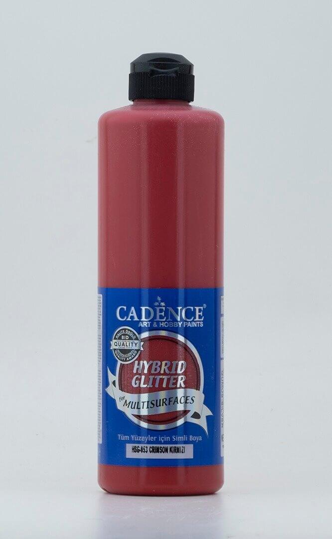 Crimson Kırmızı Cadence Multisurface Gümüş Simli Akrilik Boya HSG053 - 500 ML