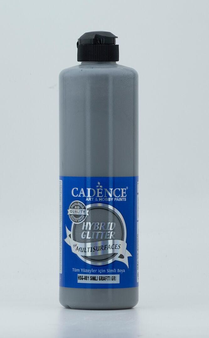 Grafiti Gri Cadence Multisurface Gümüş Simli Akrilik Boya HSG081 - 500 ML