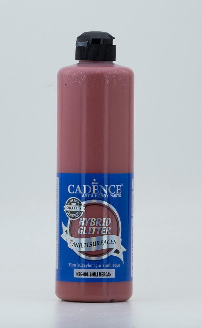 Mercan Cadence Multisurface Gümüş Simli Akrilik Boya HSG096 - 500 ML