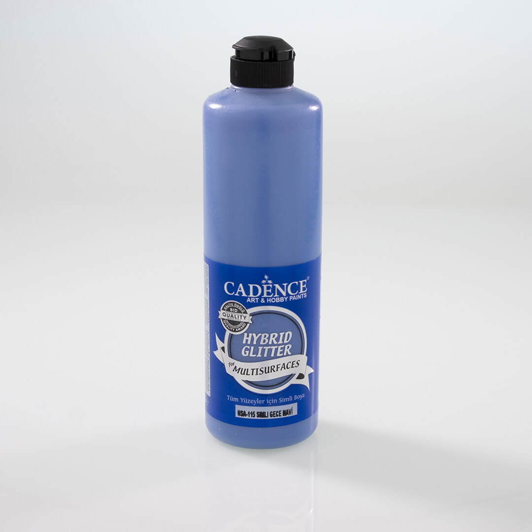Gece Mavi Cadence Multisurface Altın Simli Akrilik Boya HSA115 - 500 ML
