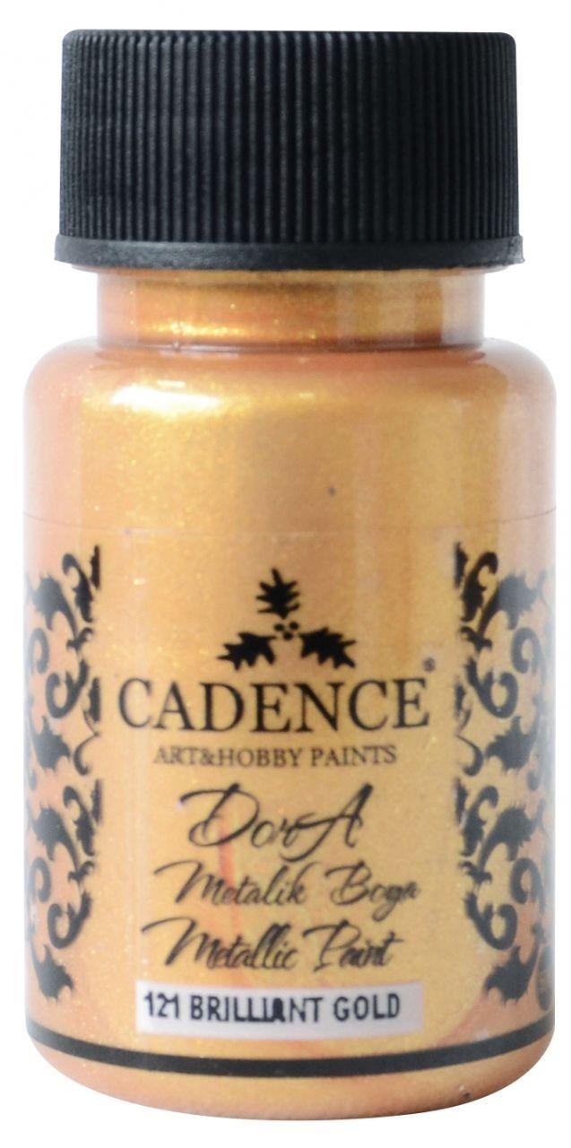 Brilliant Gold Cadence Dora Metalik Boya 50ML(cc) 121