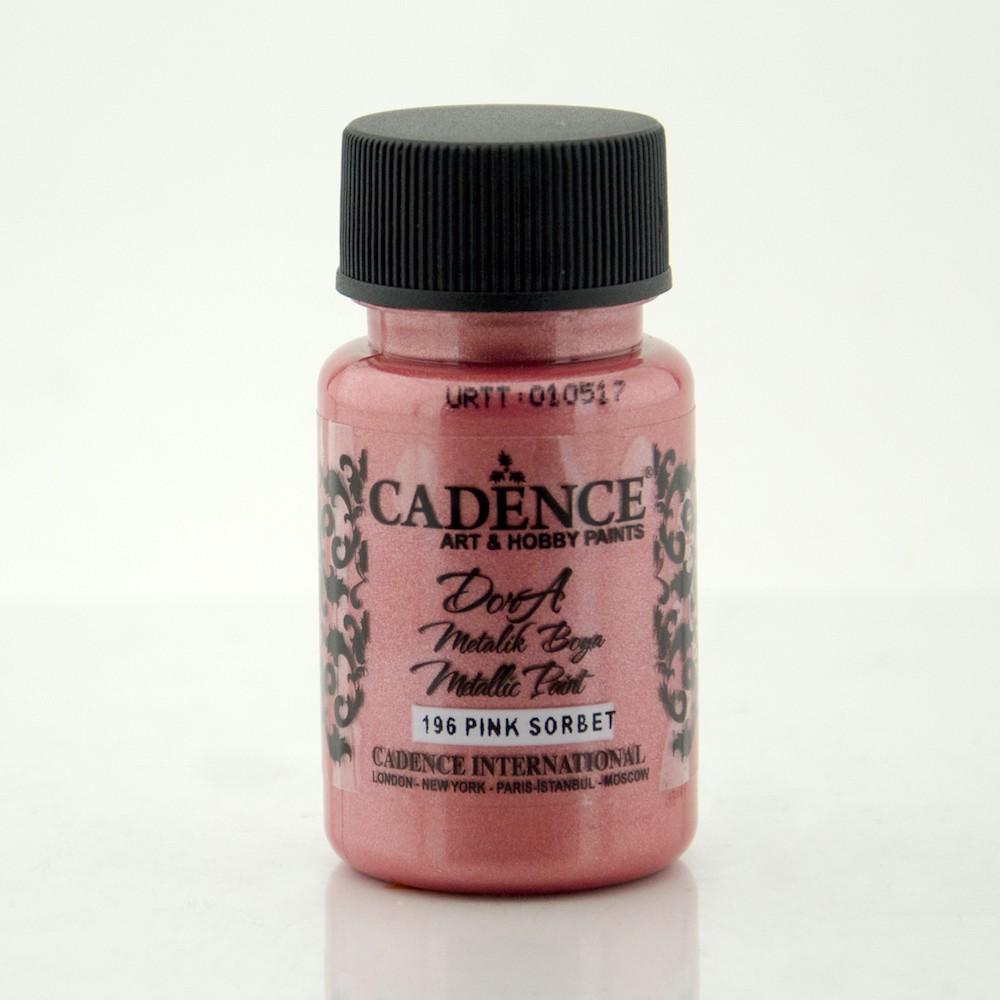Pink Sorbet Cadence Dora Metalik Boya 50ML(cc) 196