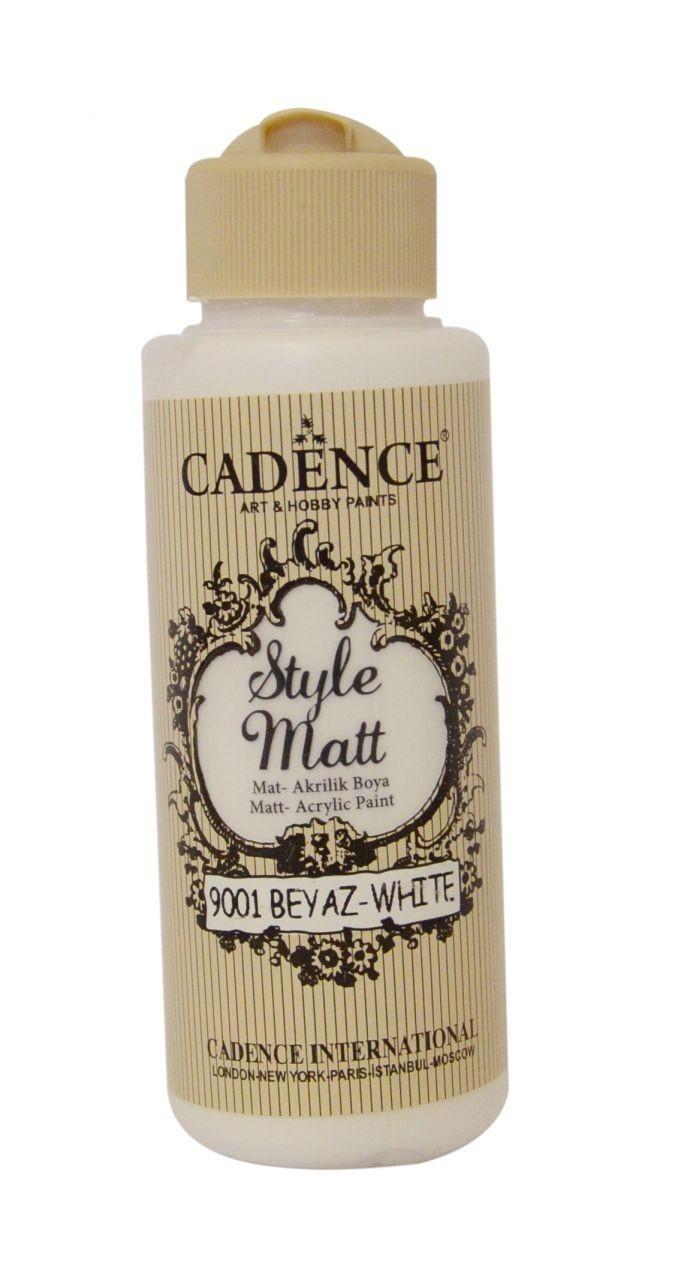 S9001 Beyaz Mat Akrilik Boya
