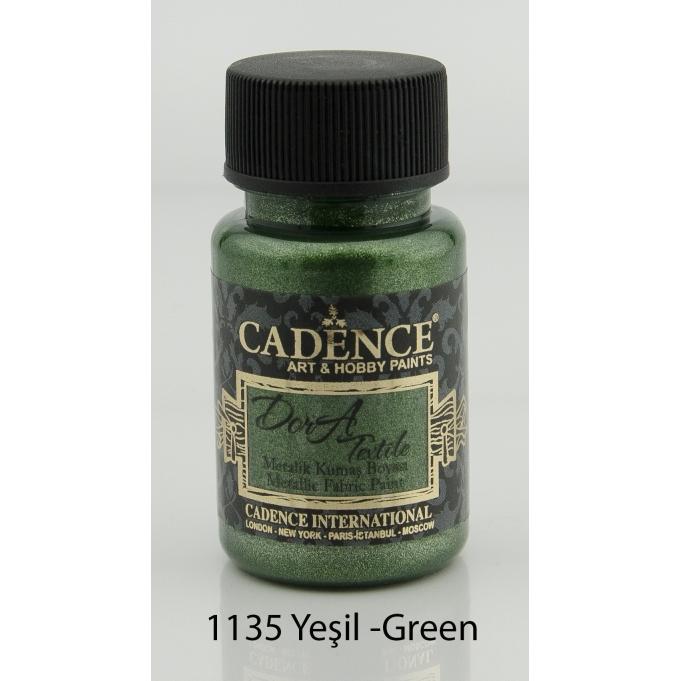 1135 Yeşil - Dora Metalik Kumaş Boyası