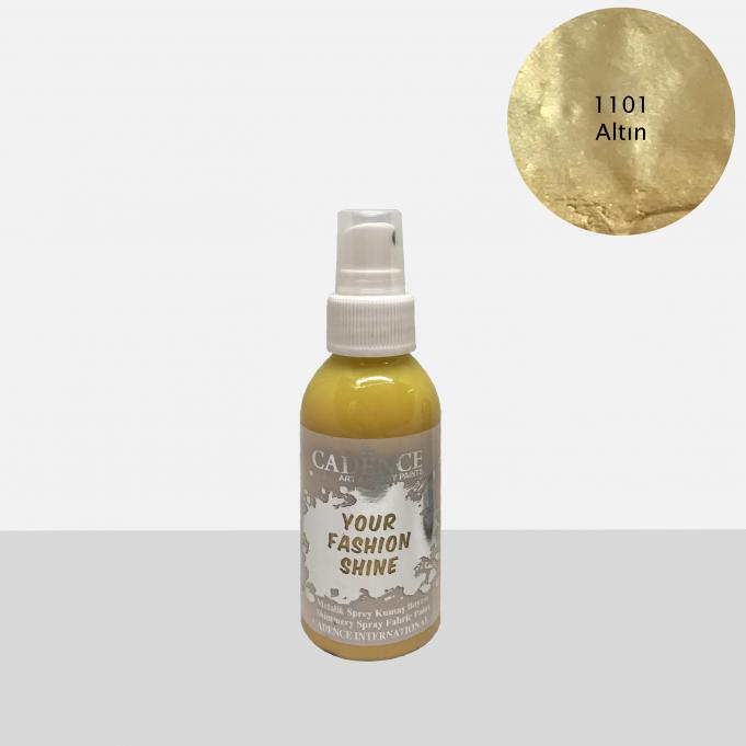 1101 Altın Sprey Metalik Kumaş Boyası