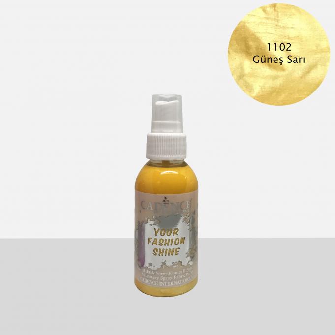 1102 Güneş Sarı Sprey Metalik Kumaş Boyası