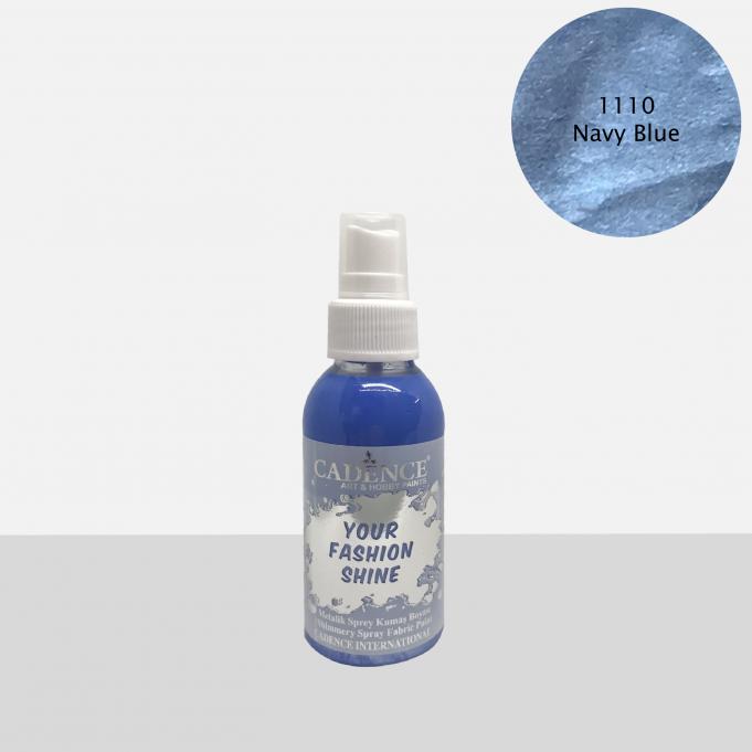 1110 Navy Blue Sprey Metalik Kumaş Boyası