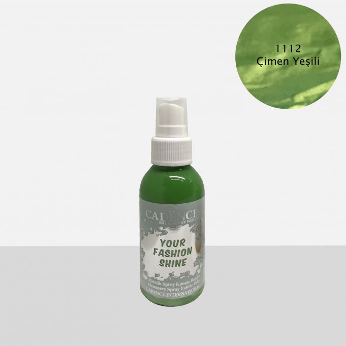1112 Çimen Yeşili Sprey Metalik Kumaş Boyası