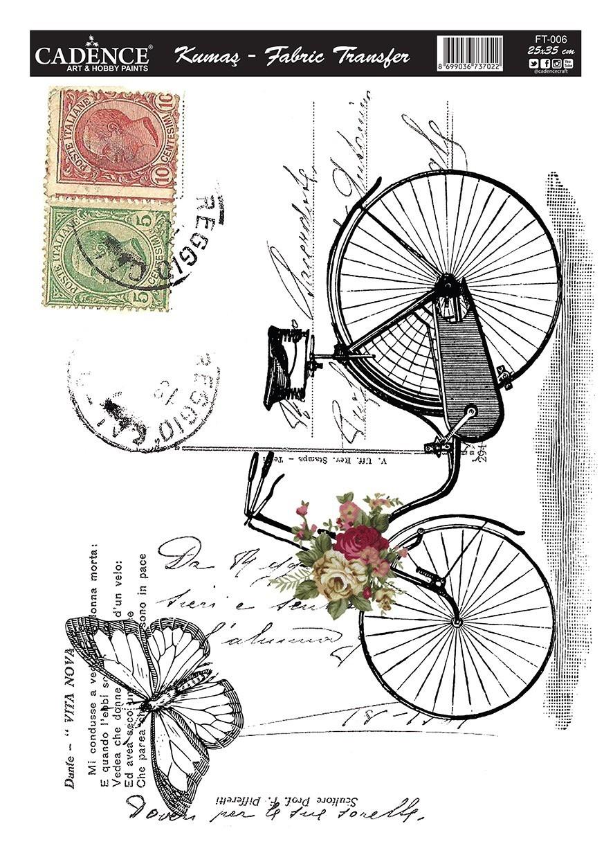 Cadence Kumaş Transfer Bisiklet 25x35 KT-06