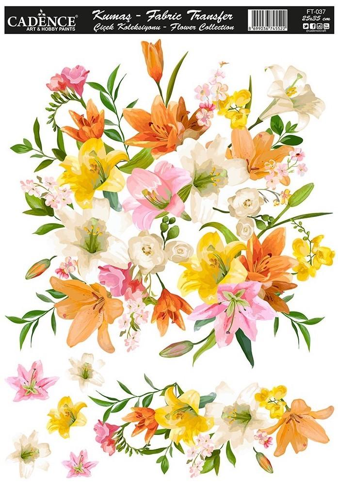 Cadence Kumaş Transfer Çiçek Koleksiyonu 25x35 KT37