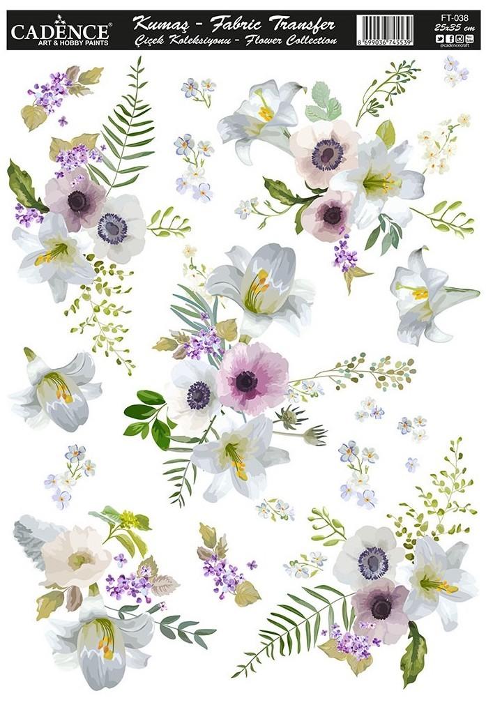 Cadence Kumaş Transfer Çiçek Koleksiyonu 25x35 KT38