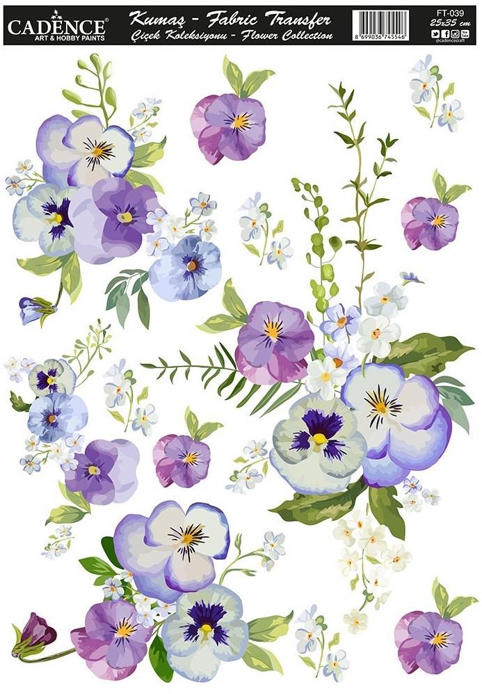 Cadence Kumaş Transfer Çiçek Koleksiyonu 25x35 KT39