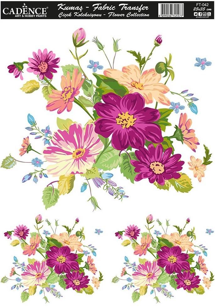 Cadence Kumaş Transfer Çiçek Koleksiyonu 25x35 KT42