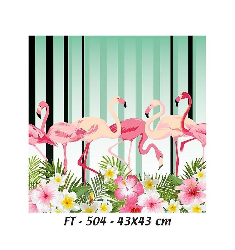 Cadence Kumaş Transfer Flamingolar 43x43 KT-504