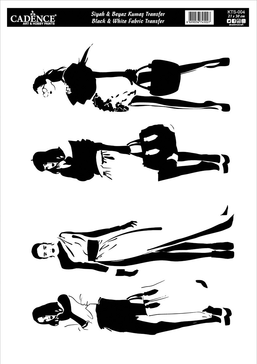 Siyah Beyaz Kumaş Transfer KTS004
