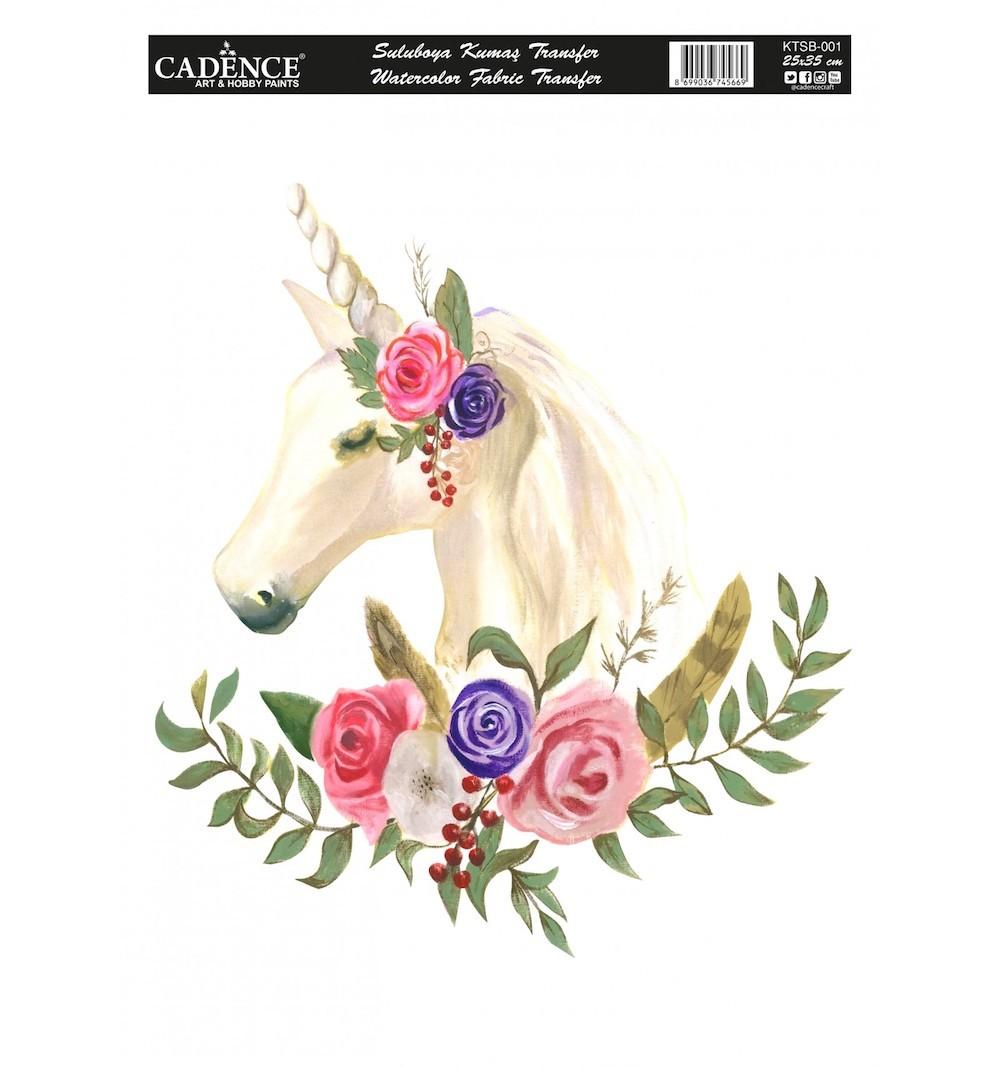 Cadence Sulu Boya Kumaş Transfer 001 Unicorn