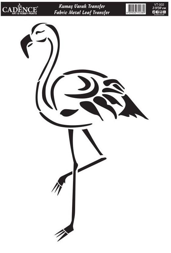Cadence Varak Kumaş Transfer Flamingo 21x30 VT02