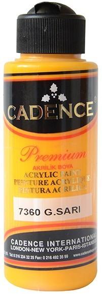 Cadence Akrilik Boya 120ML(cc) 7360 G.Sarı