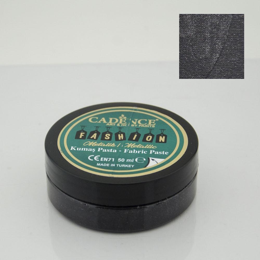Siyah Cadence Metalik Kumaş Rölyef Pasta 12