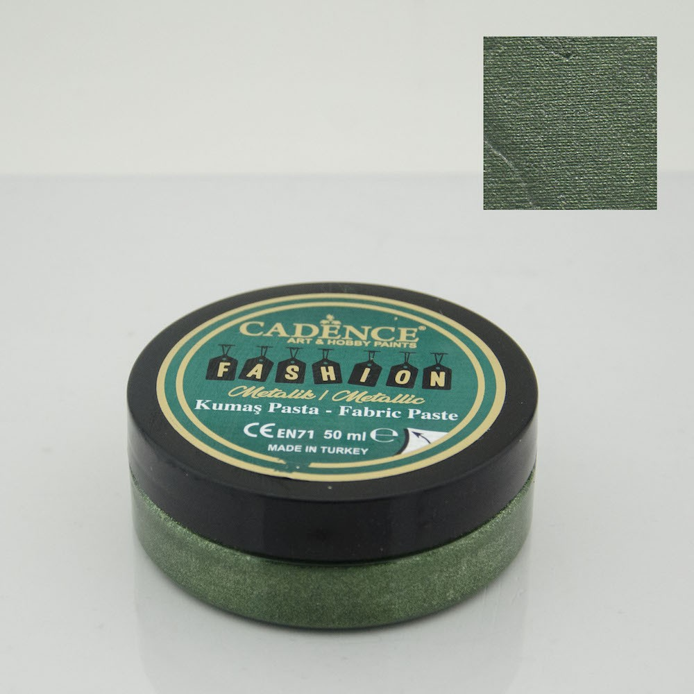Yeşil Cadence Metalik Kumaş Rölyef Pasta 08