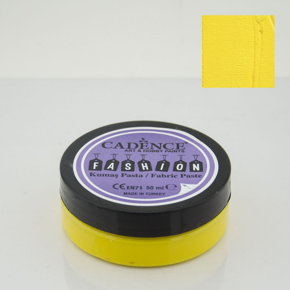 Limon Sarı Cadence Opak Kumaş Rölyef Pasta 02