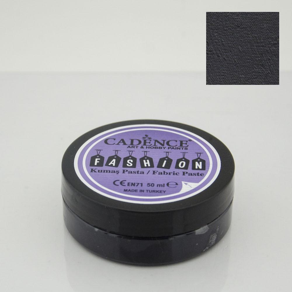 Siyah Cadence Opak Kumaş Rölyef Pasta 12