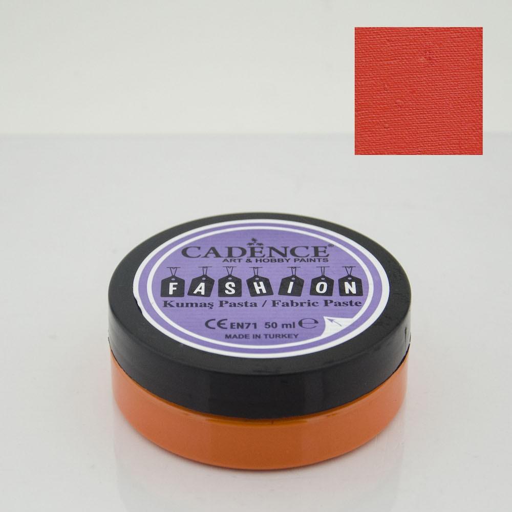 Turuncu Cadence Opak Kumaş Rölyef Pasta 03