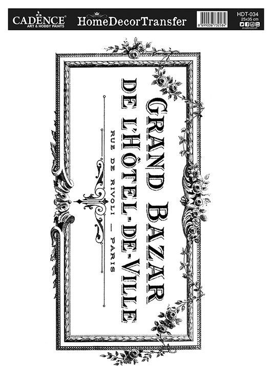 HDT-34 Home Dekor Transfer