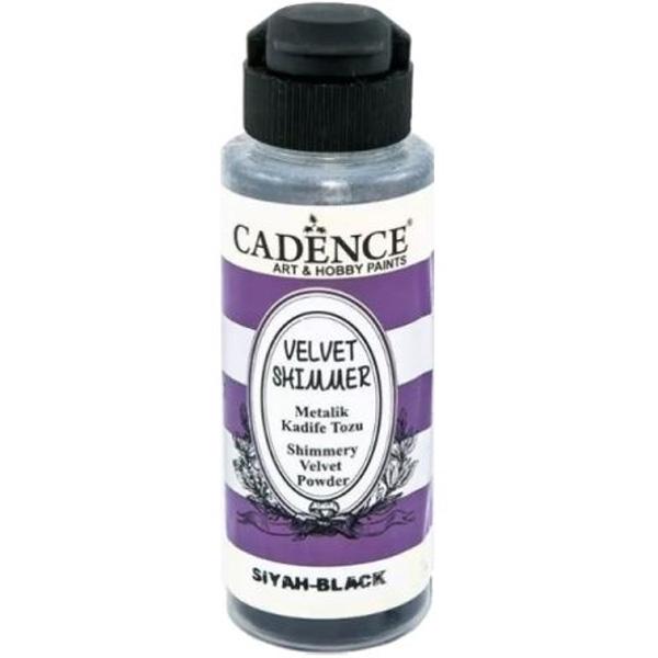 Cadence Metalik Kadife Tozu Siyah VS-07