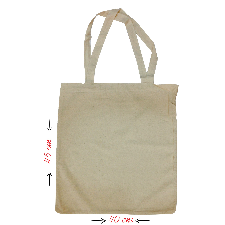Ham Bez Beyaz Çanta 45x40