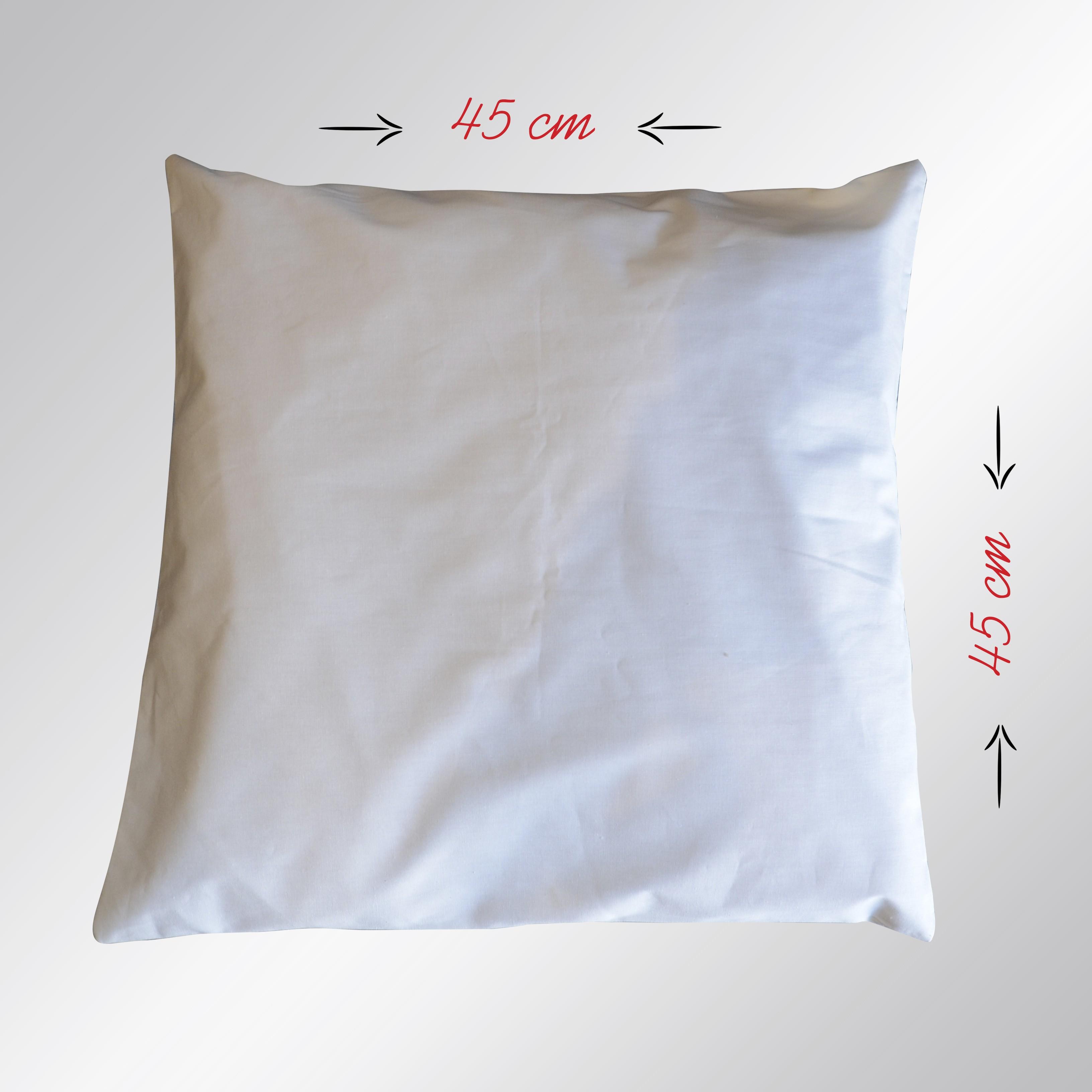 Ham Bez Beyaz Yastık 45x45