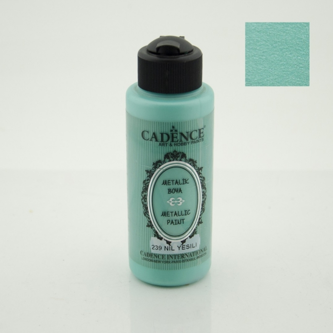 Nil Yeşili Rengi Cadence Metalik Boya 120ML (239) fiyatları
