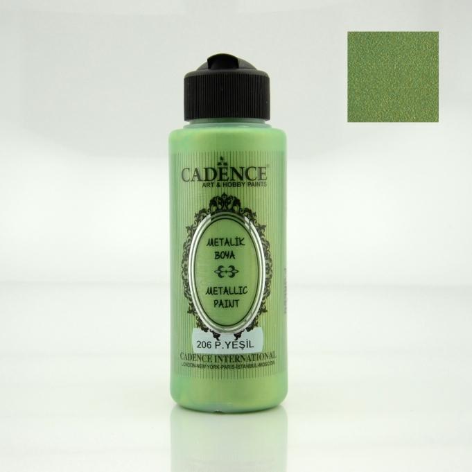 Pastel Yeşili Rengi Cadence Metalik Boya 120ML (206)