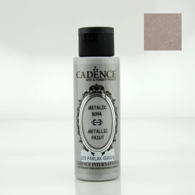 Parlak Gümüş Rengi Cadence Metalik Boya 70ML (235)