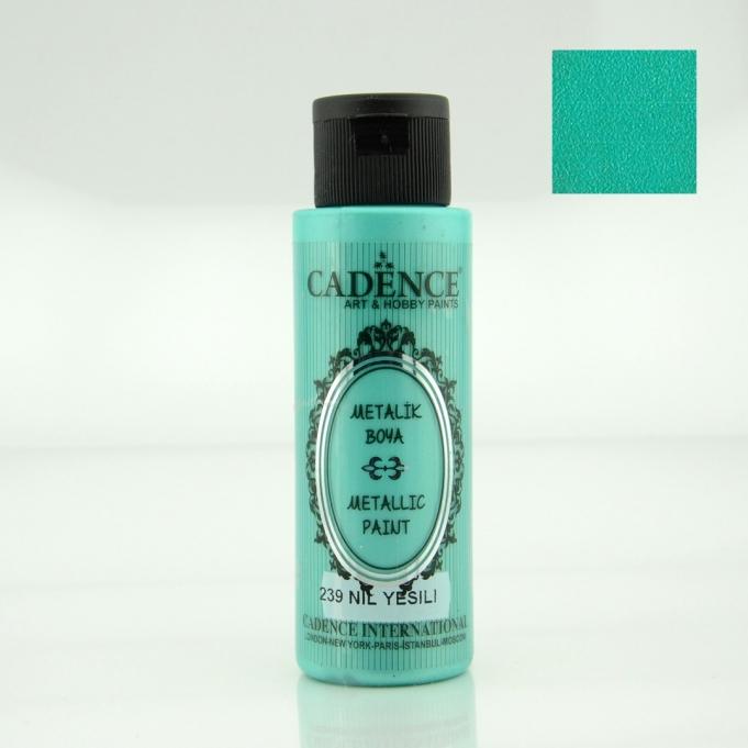 Nil Yeşili Rengi Cadence Metalik Boya 70ML (239)