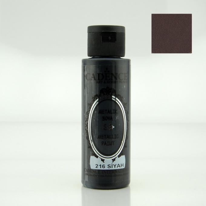 Siyah Rengi Cadence Metalik Boya 70ML (216)