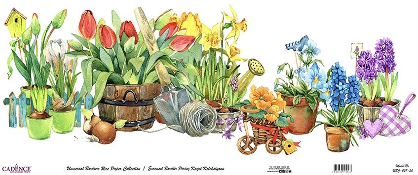 Cadence Bordür Pirinç Dekopaj Gardener Desen - UBC027