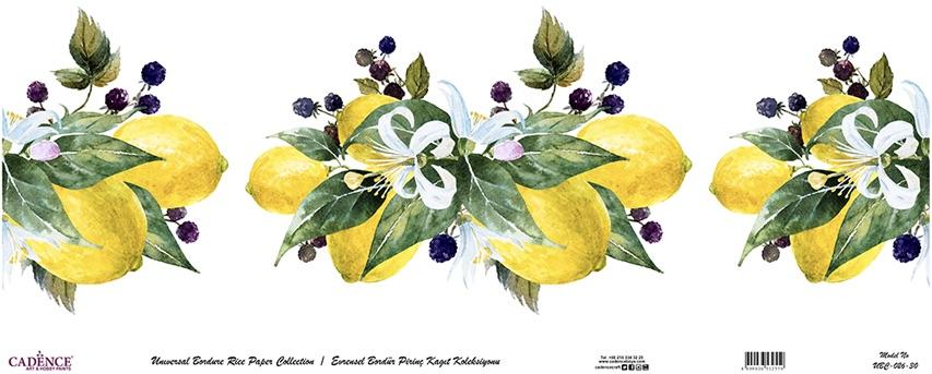 Cadence Bordür Pirinç Dekopaj Limon Çiçeği Desen - UBC026