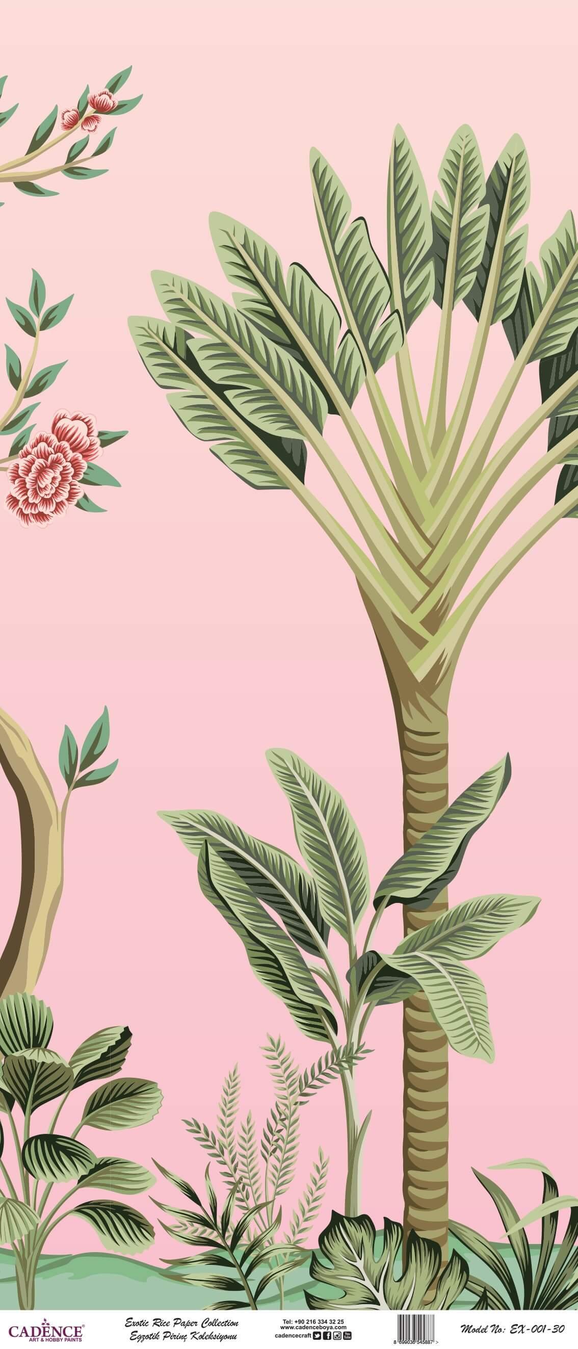 Cadence Egzotik Desen Pirinç Dekopaj | Cadence Duvar Kağıtları | Cadence Sanatsal Pirinç
