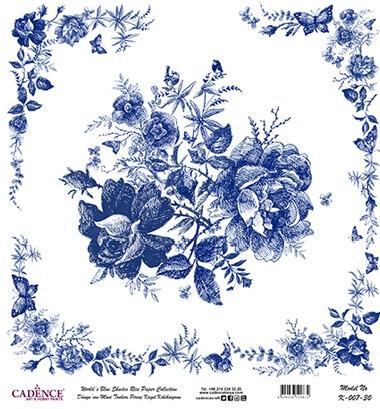 Çiçek Buketi Desen Cadence Pirinç Dekopaj  - K007