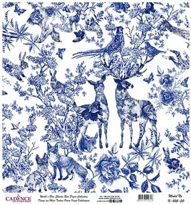 Cadence Mavi Seri Pirinç Dekopaj | Sanatsal Dünya Mutfak Fayans Dekopaj | Cadence Duvar Kağıtları