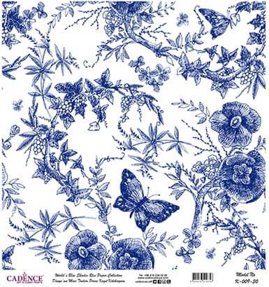 Kelebek Desen Cadence Pirinç Dekopaj  - K009