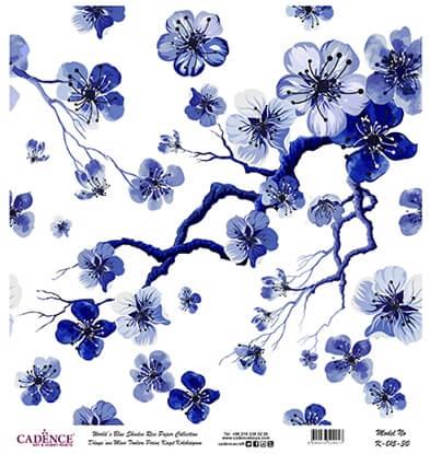 Kiraz Çiçeği Desen Cadence Pirinç Dekopaj  - K015