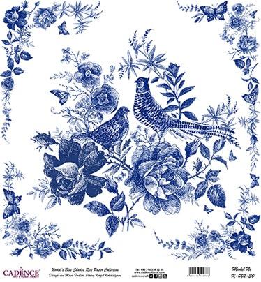 Kuş ve Çiçek Desen Cadence Pirinç Dekopaj  - K002