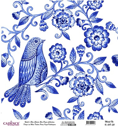 Mavi Tonlar Cadence Pirinç Dekopaj  - K018