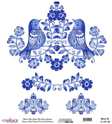 Mavi Tonlar Cadence Pirinç Dekopaj  - K019