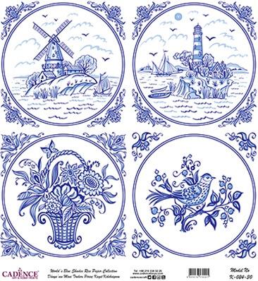 Mavi Tonlar Cadence Pirinç Dekopaj  - K024