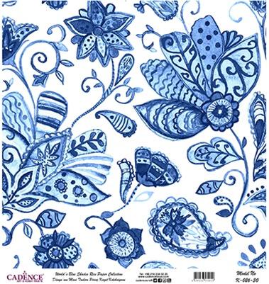 Mavi Tonlar Cadence Pirinç Dekopaj  - K026